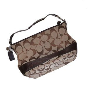 Authentic Coach Purse with Classic C Pattern